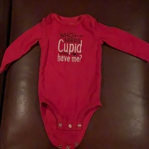 Carters 9 month long sleeve V day onesie